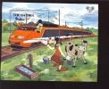 GAMBIA   717 MINT NEVER HINGED SOUVENIR SHEET OF DISNEY  TRAIN ; HISTORIC LOCOMOTIVES  #  148-1  ( - Disney