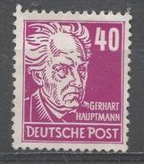 German, Russian Occupation 1948. Scott #10N40 (M) Gerhard Hauptmann * - Soviet Zone