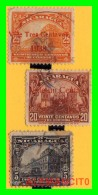 NICARAGUA  3 SELLOS  AÑO 1914  -  1939 SOBRECARGADOS - Nicaragua