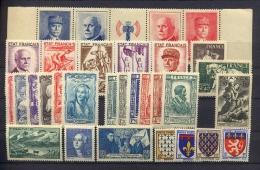 France - Année Complète 1943 - N°568 à 598 - Avec Les 2 Bandes - Neuf Luxe ** - MNH - Postfrisch - Cote 212 EUR - 1940-1949