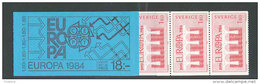 SUEDE 1984 - CARNET  YT C1252 - Facit H349 - Neuf ** MNH - Europa, 25è Conférence CEPT - Carnets