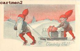 GLAEDELIG JUL ILLUSTRATEUR NAIN KOBENHAVN DANEMARK ENERET SERIE HUMOUR ILLUSTRATOR LUTIN NOUVEL-AN - Nieuwjaar