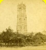 France Paris Tour Saint Jacques Ancienne Photo Stereo 1870 - Stereoscopic