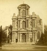 France Paris Eglise Saint Gervais Ancienne Photo Stereo 1870 - Stereoscopic