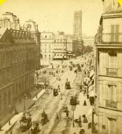 France Paris Rue De Rivoli  Animation Ancienne Photo Stereo Hippolyte Jouvin 1860 - Stereoscopio