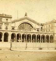 France Paris Gare De Strasbourg Gare De L'Est Ancienne Photo Stereo 1870 - Stereoscopic