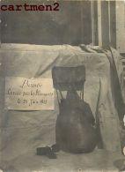 PHOTOGRAPHIE D'UNE BOMBE LANCEE PAR LES ALLEMANDS LE 21 JUIN 1915 OBUS ARTILLERIE KRIEG GUERRE - Guerra, Militares