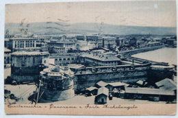 CIVITAVECCHIA - PANORAMA E FORTE MICHELANGELO 1940 - Civitavecchia