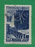 Russia - 1946 - Give The Country Each Year:  60 Millions Tons Of Steel  - Scott #1078