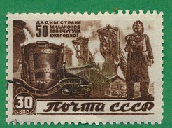 Russia - 1946 - Give The Country Each Year:  50 Million Tons Of Iron  - Scott #1079