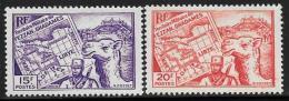 Libya, Fezzan-Ghadames, Scott # 1N11-2 Mint Hinged Map, Soldier, Camel, 1946 - Unused Stamps