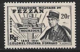 Libya, Fezzan, Scott # 2N9 Mint Hinged D'Ornano, Fort, 1949 - Fezzan (1943-1951)