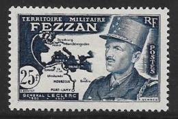 Libya, Fezzan, Scott # 2N10 Mint Hinged LeClerc, Map, 1949 - Unused Stamps