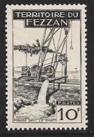 Libya, Fezzan, Scott # 2N18 Mint Hinged Well Drilling, 1951 - Fezzan (1943-1951)
