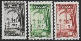 Libya, Fezzan, Scott # 2NJ1-3 Mint Hinged Postage Due, 1950 - Unused Stamps