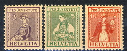 Svizzera 1917 Serie N. 154-156 MNH Cat. € 106 - Svizzera