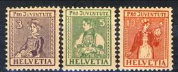 Svizzera 1917 Serie N. 154-156 MNH Cat. € 106 - Nuovi
