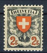 Svizzera 1924 N. 211A F. 2 Carta Patinata Goffrata MLH Cat. € 126 - Nuovi