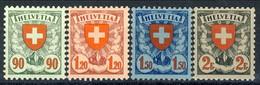 Svizzera 1924 Serie N. 208-211 Ottima Centratura, Grande Freschezza, Eccellente Qualità MNH** Cat. € 530 - Svizzera