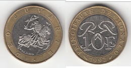 **** MONACO - 10 FRANCS 1992 - SCEAU DES GRIMALDI - RAINIER III  **** EN ACHAT IMMEDIAT !!! - Monaco