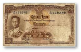THAILAND - 10 Baht - ND ( 1953 ) - Pick 76.d - Sign. 41 - Serie W/132 - King Rama IX - 2 Scans - Thailand