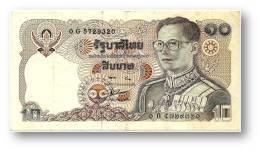 THAILAND - 10 Baht - ND ( 1980 ) - Pick 87 - Sign. 56 - Serie 0 G - King Rama IX - 2 Scans - Tailandia