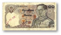 THAILAND - 10 Baht - ND ( 1980 ) - Pick 87 - Sign. 56 - Serie 1 C - King Rama IX - 2 Scans - Thailand