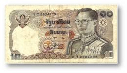 THAILAND - 10 Baht - ND ( 1980 ) - Pick 87 - Sign. 56 - Serie 9 C - King Rama IX - 2 Scans - Thaïlande