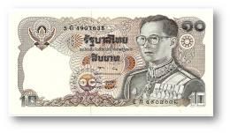 THAILAND - 10 Baht - ND ( 1980 ) - Pick 87 - UNC. - Sign. 57 - Serie 5 G - King Rama IX - 2 Scans - Thailand