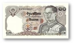 THAILAND - 10 Baht - ND ( 1980 ) - Pick 87 - UNC. - Sign. 57 - Serie 0 J - King Rama IX - 2 Scans - Thailand