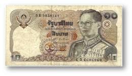THAILAND - 10 Baht - ND ( 1980 ) - Pick 87 - Sign. 60 - Serie 5 E - King Rama IX - 2 Scans - Thaïlande