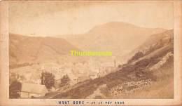 ANCIENNE PHOTO CDV VERS 1870 MONT DORE ET LE PUY GROS - Antiche (ante 1900)