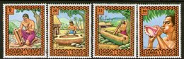 SAMOA, 1975 MUSIC INSTRUMENTS 4 MNH - Samoa