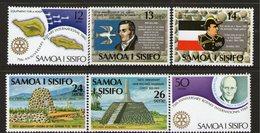 SAMOA, 1980 ANNIVERSARIES 6 MNH - Samoa
