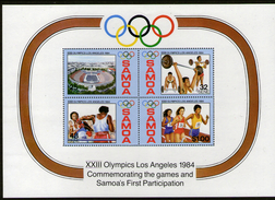 SAMOA, 1984 OLYMPICS MINISHEET MNH - Samoa
