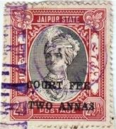 INDIA JAIPUR PRINCELY STATE 2-ANNAS COURT FEE STAMP 1940-1945 GOOD/USED - Jaipur