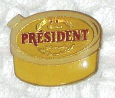 Pin's BOITE DE BEURRE PRESIDENT - Alimentation