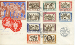 VATICANO - FDC 1960 TRE STELLE - MISERICORDIA - BUSTONE - FDC