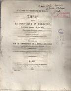 These De Medecine Presente Par Isidore-francois BIGOT  Ne AU CHENE-EURE-. Sur LA COMPRESSION DE LA MOELLE EPINIERE.1845. - Diplômes & Bulletins Scolaires