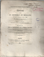 These De Medecine Presente Par Isidore-francois BIGOT  Ne AU CHENE-EURE-. Sur LA COMPRESSION DE LA MOELLE EPINIERE.1845. - Diploma & School Reports