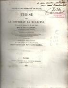 These De Medecine Presente Par G.eugene BLEU  Ne DAMMARTIN S&m-. Qqs Reflexions Sur Les Causes Des Fractures N: Consolid - Diploma & School Reports