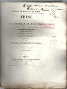 """These De Medecine Presente Par"""" Joseph BOYER """"  Ne A DIGNE Du """" PHLEGMON DES LIGAMENTS LARGES """" Du 20 JANV 1848 - Diplômes & Bulletins Scolaires"""