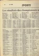 Les Pages Sportives Du Journal Le Soir (saison 1982/83) Standard Champion - 1950 à Nos Jours