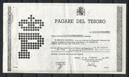 España_1986_Copia De Pagaré Del Tesoro. - Banco & Caja De Ahorros