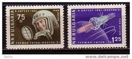 BULGARIA / BULGARIE - 1961 - Second Cosmonaute Titov - 2v ** - Space