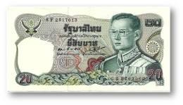 THAILAND - 20 Baht - ND ( 1981 ) - Pick 88 - Sign. 55 - Serie 8 F - King Rama IX - 2 Scans - Tailandia