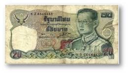 THAILAND - 20 Baht - ND ( 1981 ) - Pick 88 - Sign. 56 - Serie 6 J - King Rama IX - 2 Scans - Tailandia