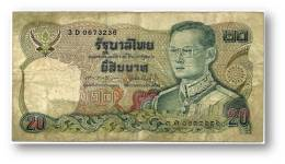 THAILAND - 20 Baht - ND ( 1981 ) - Pick 88 - Sign. 60 - Serie 3 D - King Rama IX - 2 Scans - Thaïlande