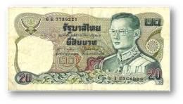 THAILAND - 20 Baht - ND ( 1981 ) - Pick 88 - Sign. 60 - Serie 6 E - King Rama IX - 2 Scans - Thailand
