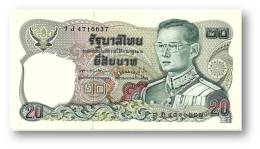 THAILAND - 20 Baht - ND ( 1981 ) - Pick 88 - Sign. 60 - Serie 7 J - King Rama IX - 2 Scans - Thailand